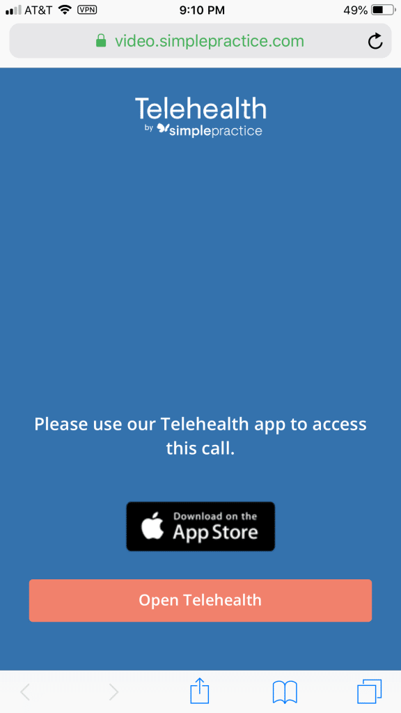 Teletherapy on Apple iOS